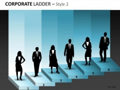Business Cycle Diagram Corporate Ladder Diagram For Business Strategy Diagram