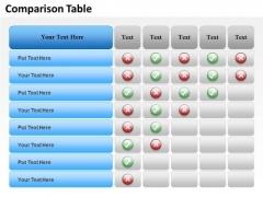Business Cycle Diagram Data Driven Comparison Chart Business Diagram