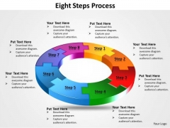 Business Cycle Diagram Eight Steps Process Business Diagram