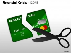 Business Cycle Diagram Financial Crisis Icons Business Finance Strategy Development