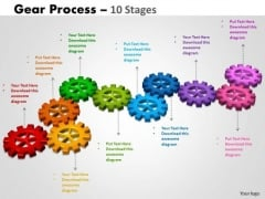 Business Cycle Diagram Gears Process 10 Stages Business Diagram