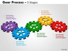 Business Cycle Diagram Gears Process 5 Stages Style Business Diagram