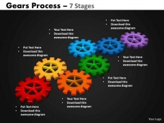 Business Cycle Diagram Gears Process 7 Stages Marketing Diagram