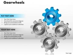Business Cycle Diagram Gearwheels Business Diagram