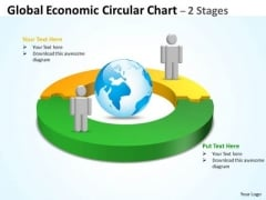 Business Cycle Diagram Global Economic Circular Chart 2 Stages Strategy Diagram