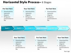 Business Cycle Diagram Horizontal Style 6 Stages Marketing Diagram