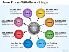 Business Cycle Diagram Hub And Spoke Process 8 Stages Business Diagram