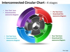 Business Cycle Diagram Interconnected Circular Chart Strategy Diagram