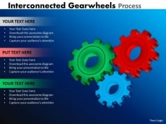 Business Cycle Diagram Interconnected Gearwheels Process Marketing Diagram