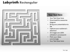 Business Cycle Diagram Labyrinth Rectangular Business Diagram