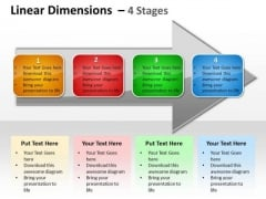 Business Cycle Diagram Linear Dimensions 4 Stages Consulting Diagram
