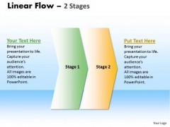 Business Cycle Diagram Linear Flow 2 Stages 2