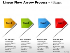Business Cycle Diagram Linear Flow Arrow Process 4 Stages Finance Strategy Development