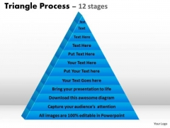 Business Cycle Diagram Multistaged Business Process Triangle Business Diagram