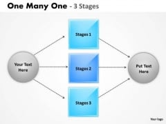 Business Cycle Diagram One Many One 3 Step Consulting Diagram