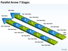 Business Cycle Diagram Parallel Arrow 7 Stages Consulting Diagram