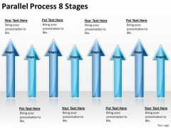 Business Cycle Diagram Parallel Process 8 Stages Marketing Diagram