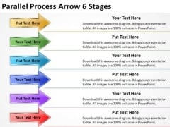 Business Cycle Diagram Parallel Process Arrow 6 Stages Marketing Diagram