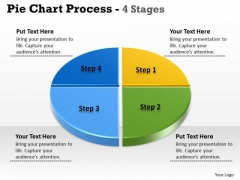 Business Cycle Diagram Pie Chart 4 Stages Marketing Diagram