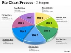 Business Cycle Diagram Pie Chart 7 Stages Business Diagram