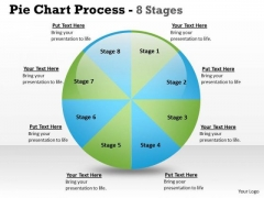 Business Cycle Diagram Pie Chart Process 8 Stages Sales Diagram