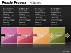 Business Cycle Diagram Puzzle Process 4 Stages Business Diagram