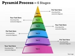 Business Cycle Diagram Pyramid Process 6 Stages For Marketing Strategy Diagram