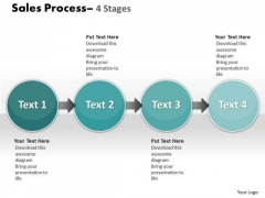 Business Cycle Diagram Sale Process 4 Stages Sales Diagram
