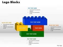 Business Cycle Diagram Strategic Management Lego Blocks 4 Strategy Diagram Sales Diagram
