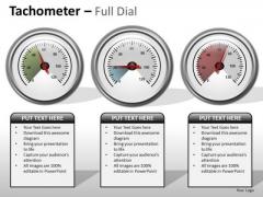 Business Cycle Diagram Tachometer Full Dial Business Diagram