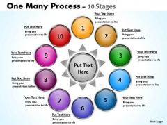 Business Cycle Diagram Ten One Many Process Stages Consulting Diagram