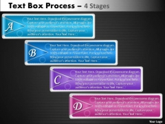Business Cycle Diagram Text Box Process 4 Stages Strategy Diagram
