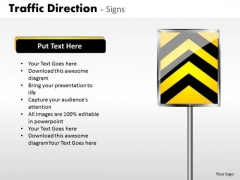 Business Cycle Diagram Traffic Direction Signs Business Framework Model