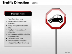 Business Cycle Diagram Traffic Direction Signs Consulting Diagram