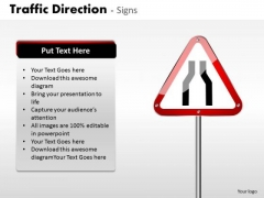 Business Cycle Diagram Traffic Direction Signs Strategic Management