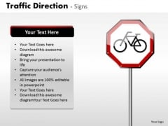 Business Cycle Diagram Traffic Direction Signs Strategy Diagram