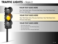 Business Cycle Diagram Traffic Lights Marketing Diagram