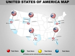 Business Cycle Diagram Usa Country PowerPoint Maps Consulting Diagram