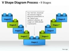Business Cycle Diagram V Shape Diagram Process 9 Stages Marketing Diagram