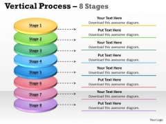 Business Cycle Diagram Vertical Process 8 Stages Marketing Diagram