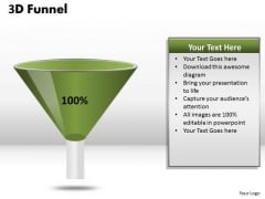 Business Diagram 100 Percent Value Funnel Diagram Strategic Management