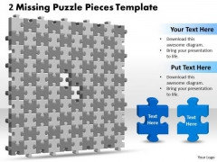 Business Diagram 3d 10x10 Missing Puzzle Piece Strategic Management