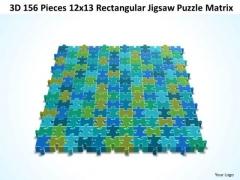Business Diagram 3d 156 Pieces 12x13 Rectangular Jigsaw Puzzle Matrix Sales Diagram