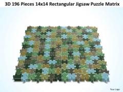 Business Diagram 3d 182 Pieces 14x14 Rectangular Jigsaw Puzzle Matrix Sales Diagram