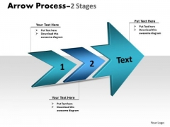 Business Diagram 3d Arrow Process 2 Stages