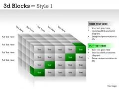 Business Diagram 3d Blocks Style Sales Diagram
