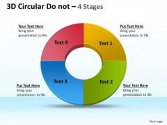 Business Diagram 3d Circular Donut 4 Stages Marketing Diagram