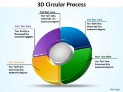 Business Diagram 3d Circular Process Business Framework Model