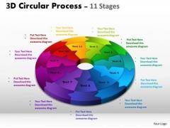Business Diagram 3d Circular Process Cycle Diagram Chart 11 Stages Sales Diagram