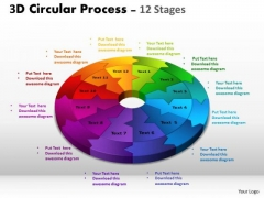Business Diagram 3d Circular Process Cycle Diagram Chart 12 Stages Design Strategic Management